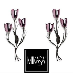 Pair of Fuchsia Light Wall Sconces by Mikasa